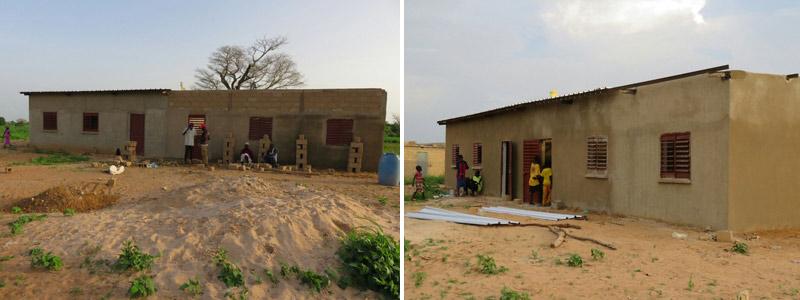 Construcción de dos aulas nuevas
